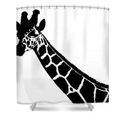Black And White Giraffe Shower Curtain by Maja Sokolowska