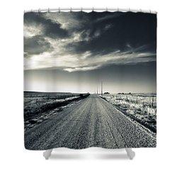 Black And White Gravel Shower Curtain