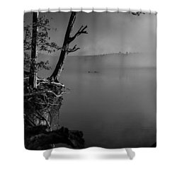 Black And White Morning Shower Curtain