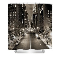 Black And White New York Shower Curtain