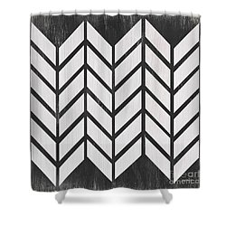 Shower Curtain featuring the painting Black And White Quilt by Debbie DeWitt