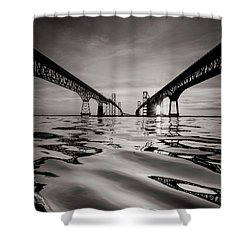 Black And White Reflections Shower Curtain