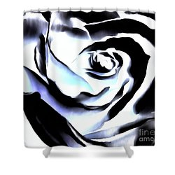 Shower Curtain featuring the photograph Black And White Rose - Till Eternity by Janine Riley