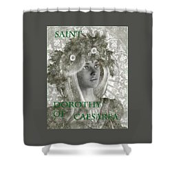 Black And White Saint Dorothy Shower Curtain by Suzanne Silvir