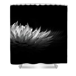 White Spikes Shower Curtain