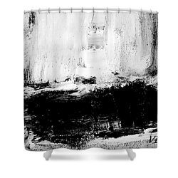 Black And White Study Shower Curtain