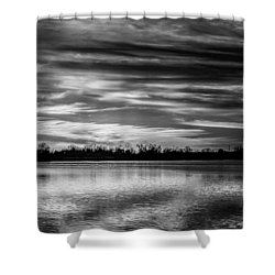 Black And White Sunset Shower Curtain
