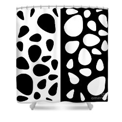 Black And White Teardrops Shower Curtain