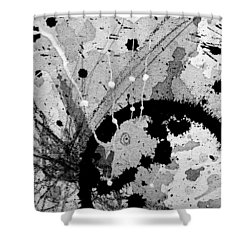 Black And White Three Shower Curtain