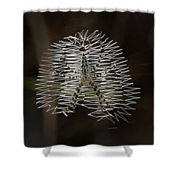 Black And Yellow In White And Black Shower Curtain