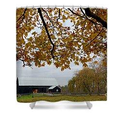 Black Barn Farm Shower Curtain