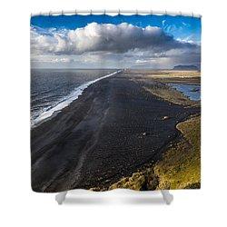 Black Beach Shower Curtain