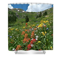 Shower Curtain featuring the photograph Black Bear Pass Landscape by Cascade Colors
