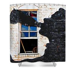 Black Betty Shower Curtain by Skip Hunt