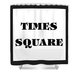 Black Border Times Square Shower Curtain