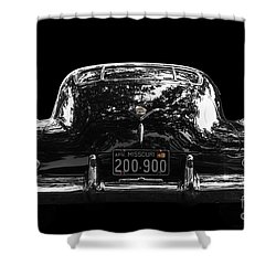 Black Cad Shower Curtain