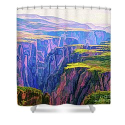 Black Canyon Colorado Shower Curtain