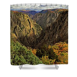 Black Canyon Of The Gunnison - Colorful Colorado - Landscape Shower Curtain by Jason Politte