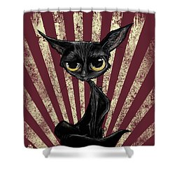 Black Cat Revolution Shower Curtain
