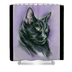 Black Cat Sith Shower Curtain