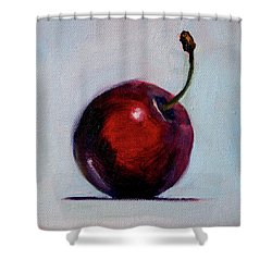 Shower Curtain featuring the painting black Cherry by Nancy Merkle