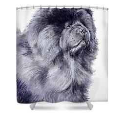 Black Chow Chow  Shower Curtain