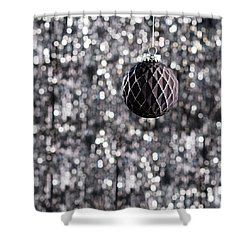 Shower Curtain featuring the photograph Black Christmas by Ulrich Schade