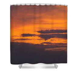 Black Cloud Sunset  Shower Curtain by Don Koester