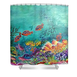 Black Coral Shower Curtain