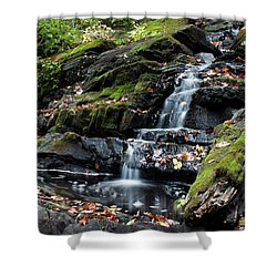 Black Creek Falls In Autumn, 2016 Shower Curtain by Jeff Severson