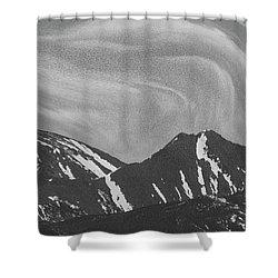 Black Day Mountain Shower Curtain
