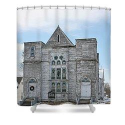 Black Diamond Musuem Shower Curtain