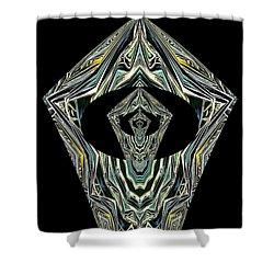 Black Enigma Shower Curtain by Oksana Semenchenko