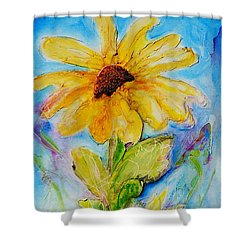 Black Eyed Susan Shower Curtain by Theresa Marie Johnson
