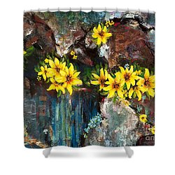 Black-eyed Susans Shower Curtain by Frances Marino