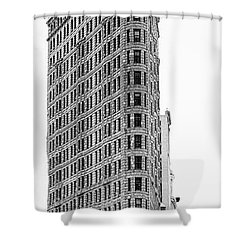Black Flatiron Building II Shower Curtain