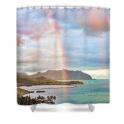 Black Friday Rainbow Shower Curtain
