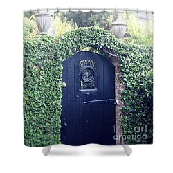Black Garden Door Shower Curtain