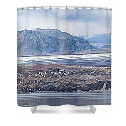 Black Glacier Shower Curtain