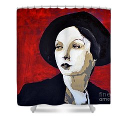 Black Hat Shower Curtain