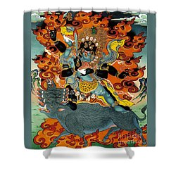 Black Hayagriva Shower Curtain by Sergey Noskov