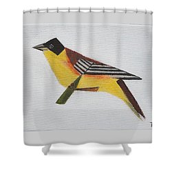 Black-headed Bunting Shower Curtain