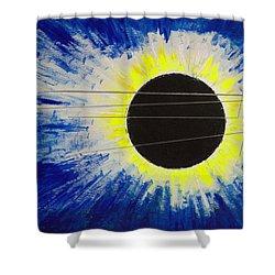 Black Hole Blues Shower Curtain