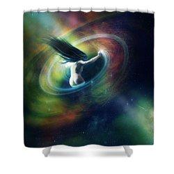 Black Hole Shower Curtain by Mary Hood
