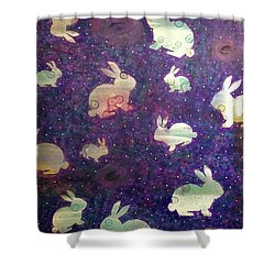Black Holes And Bunnies Shower Curtain