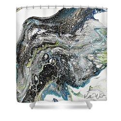 Black Ice 3 Shower Curtain