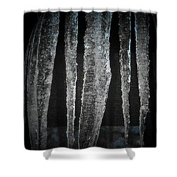 Shower Curtain featuring the digital art Black Ice by Barbara S Nickerson