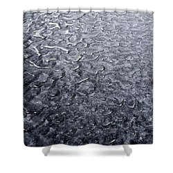 Black Ice Shower Curtain