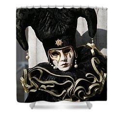 Black Jester Shower Curtain