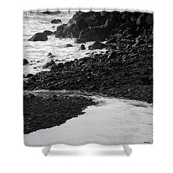 Black Lava Beach, Maui Shower Curtain